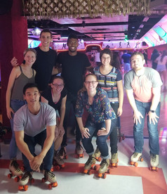 Roller skating with our summer students! 08.2019