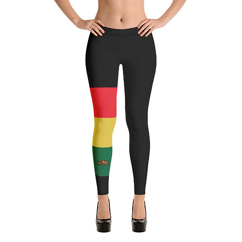 Rastafari Flag Colored Stripes Jah Movement Women's Leggings