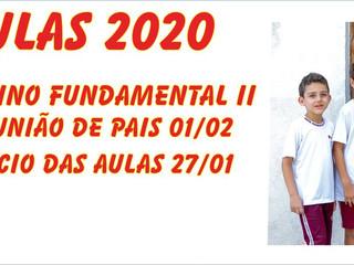 Volta às Aulas  Ensino Fundamental II.