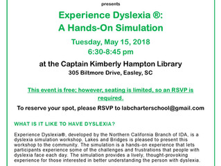 Dyslexia Simulation - May 15, 2018