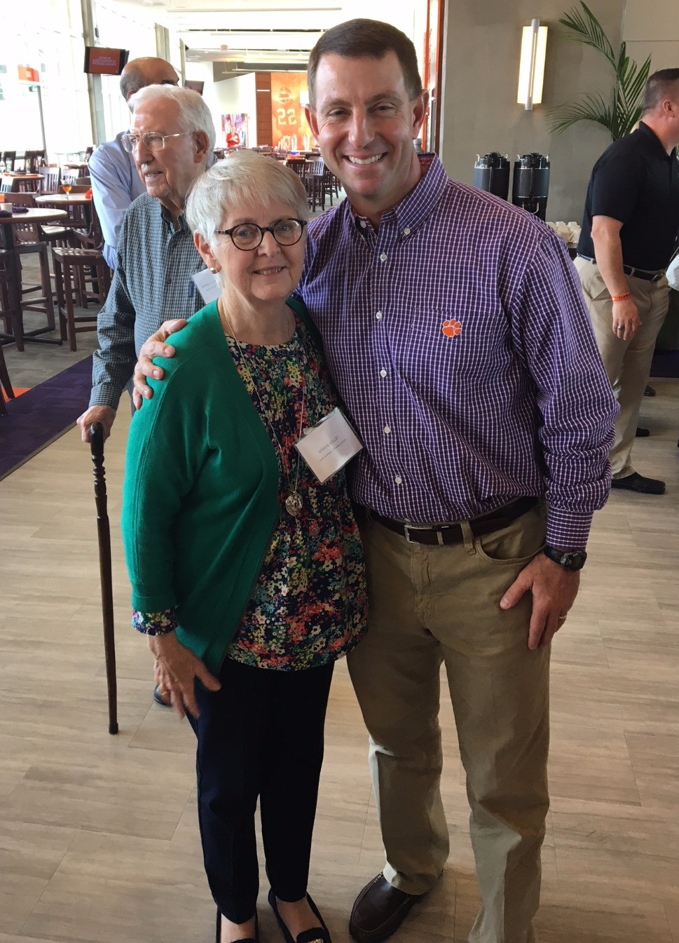 Bonnie Kelley and Dabo Swinney at All-In Team Foundation luncheon