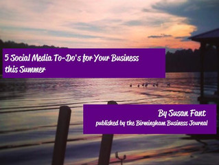 5 Social Media To-Dos for Your Business this Summer