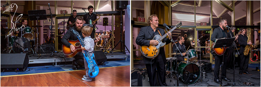 Van Wezel Wedding Photography, live band plays at Grand Foyer Reception