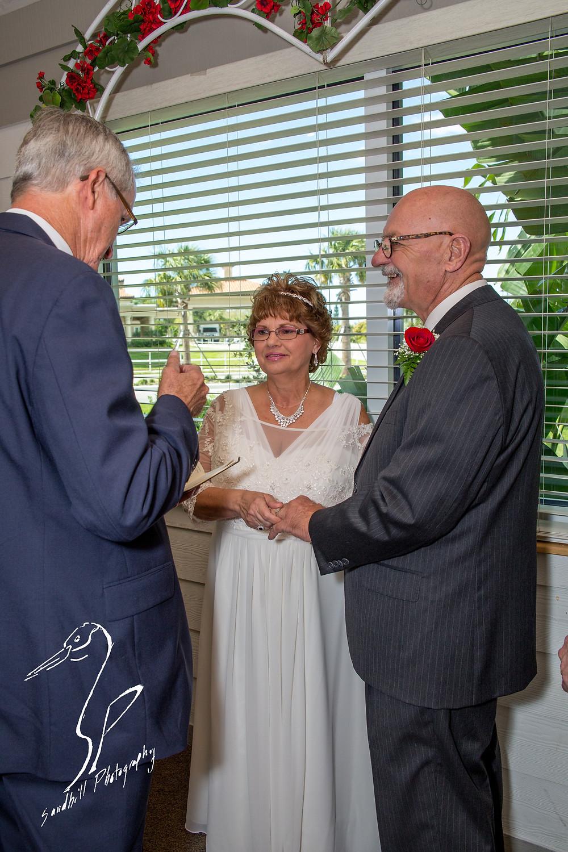 Anna Maria Oyster Bar Wedding Photography Ceremony bride groom