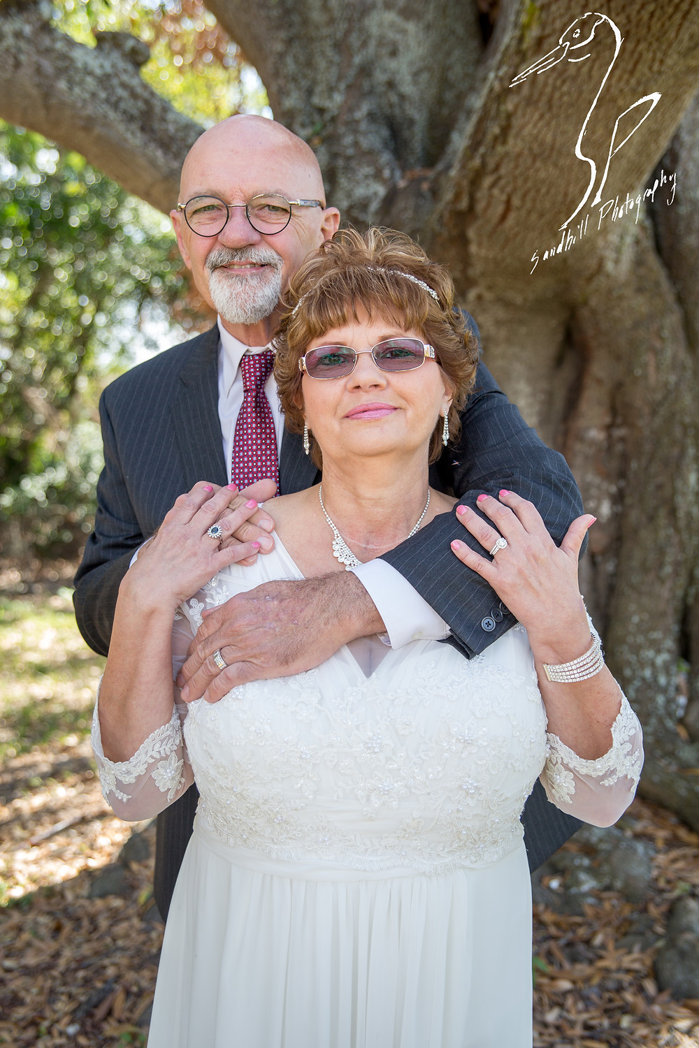 Anna Maria Oyster Bar Wedding Photography Bride and Groom Posed Photo Tree