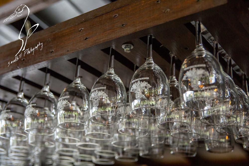 Fiorelli Winery & Vineyard wine 'n dine Bradenton hanging wine glasses