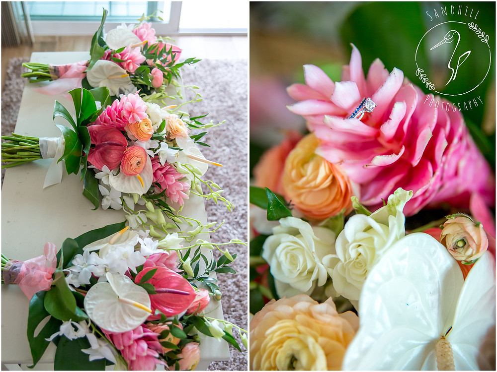 Anna Maria Island Wedding Photographer tropical wedding flowers by Blooms By the Beach