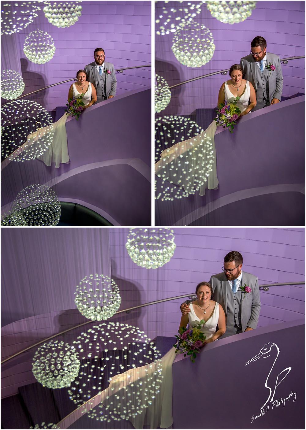 Van Wezel Wedding Photography, Bridal portraits inside the performing arts hall in Sarasota