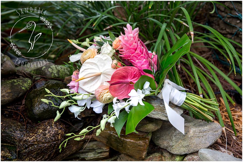 Anna Maria Island Wedding Photographer Tropical Wedding Boquet