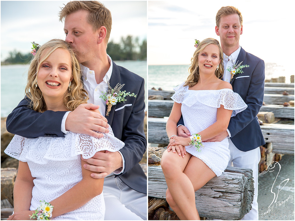 Anna Maria Island Wedding Photography, portraits of the bride and groom by Sandhill Photography