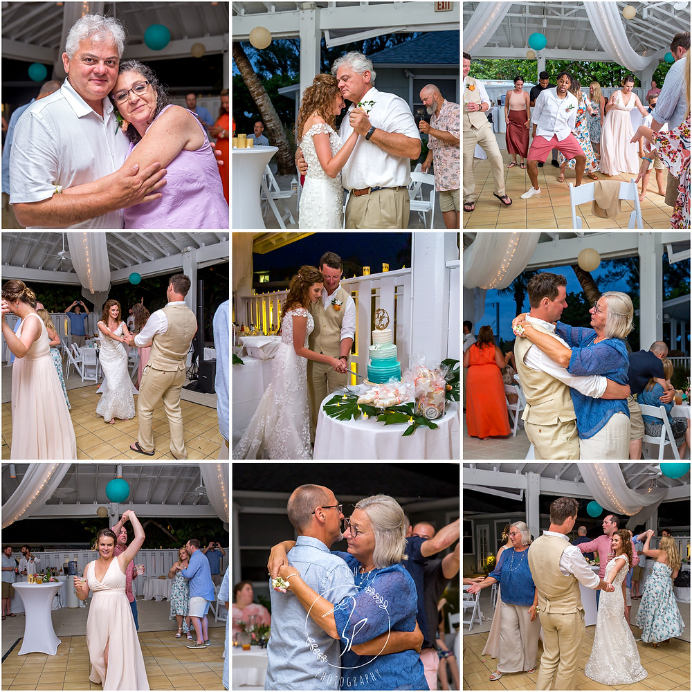 Anna Maria Island Wedding Photographer Tropical wedding reception The Sandbar Restaurant