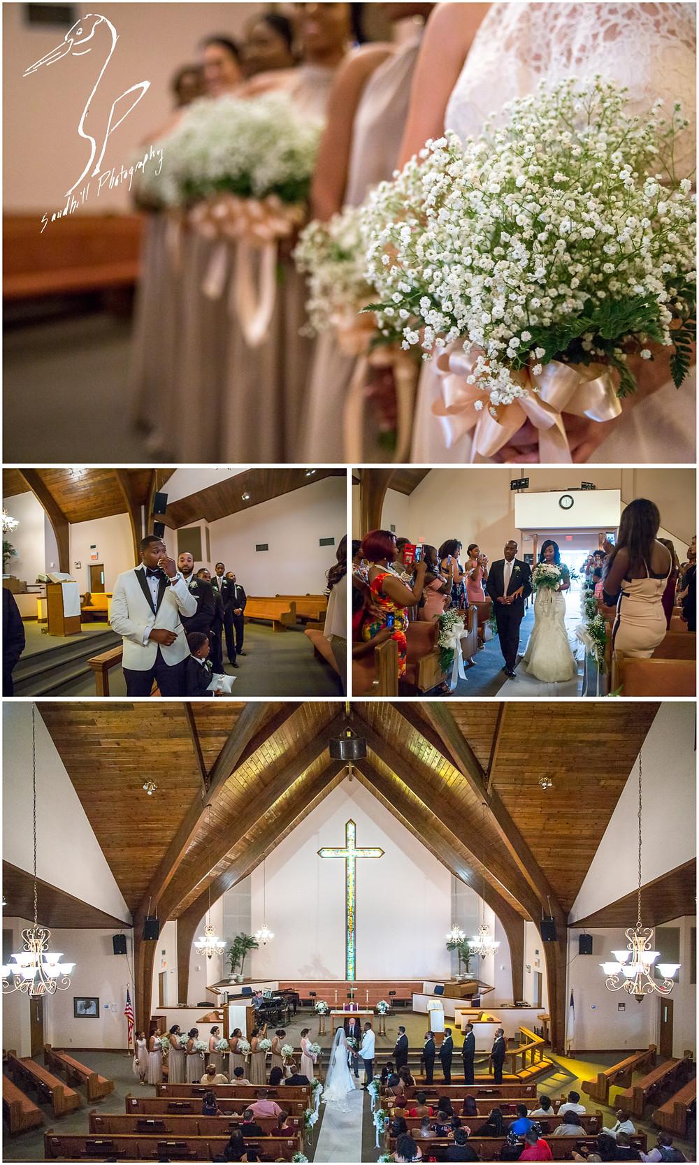 Bradenton Wedding Photographer, wedding ceremony at United First Methodist Church of Seffner