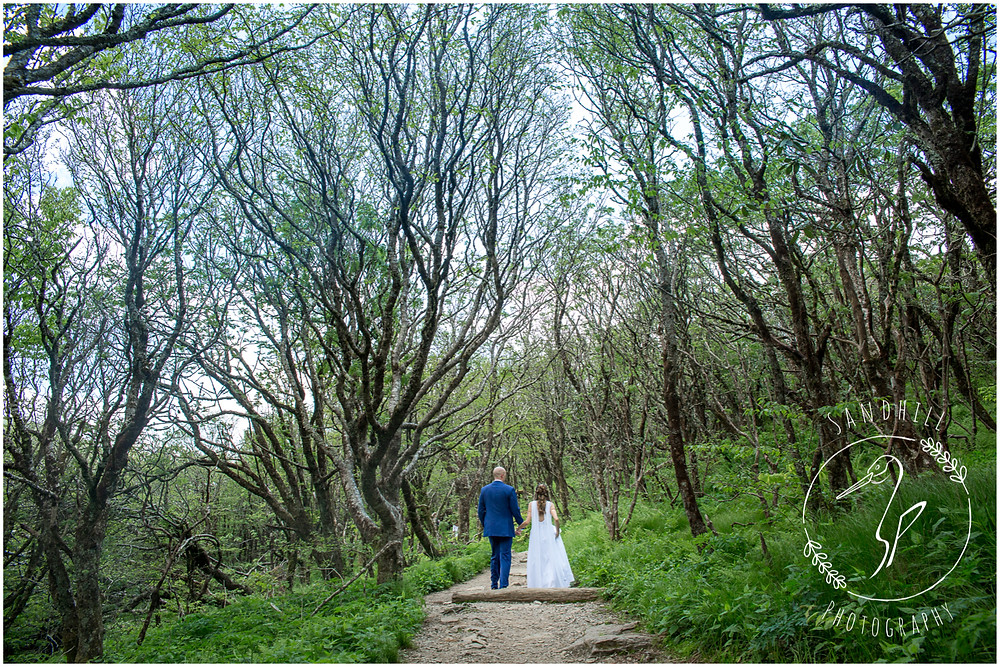 Destination Wedding Photographer, bride and groom walking in forest, image by Sandhill Photography, Bradenton FL