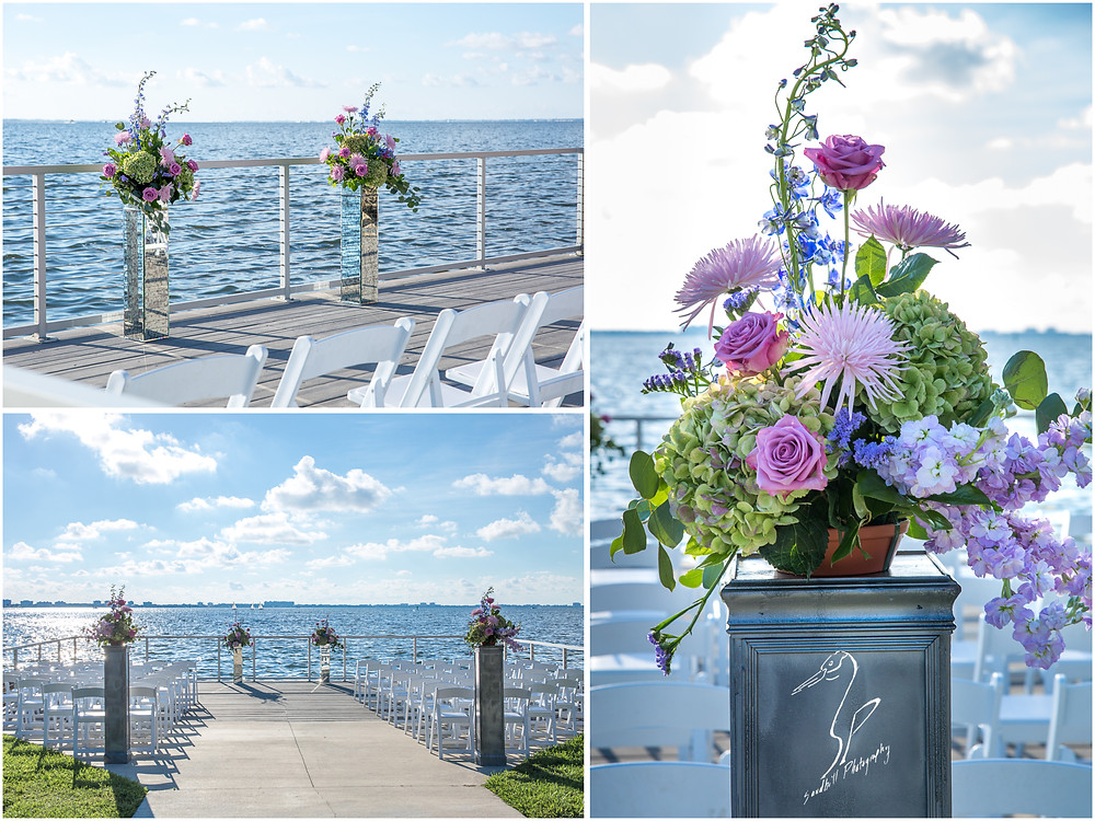 Van Wezel Wedding Photography, detail pictures of the ceremony site on the dock