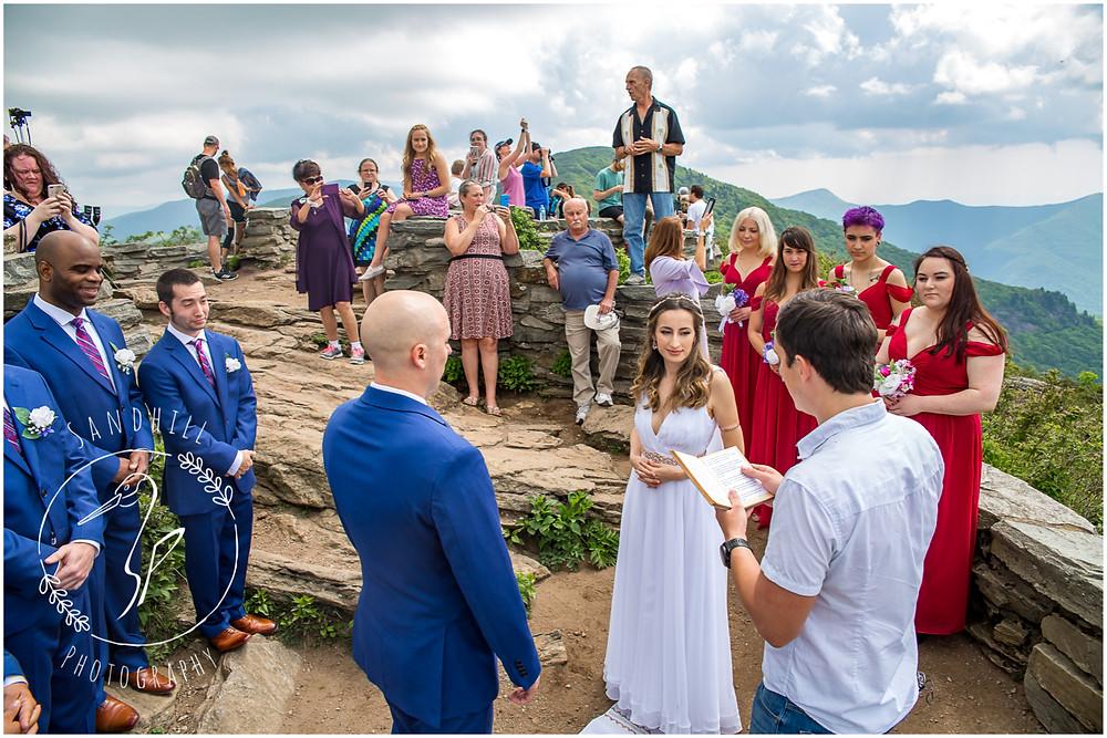 Destination Wedding Photographer, mountain top wedding ceremony image by Sandhill Photography, Bradenton FL