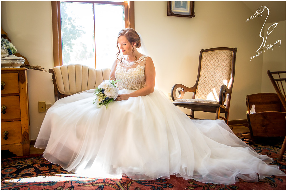 Sarasota Wedding Photography Crocker Memorial Church portrait of the bride sitting quietly before her wedding by Sandhill Photography