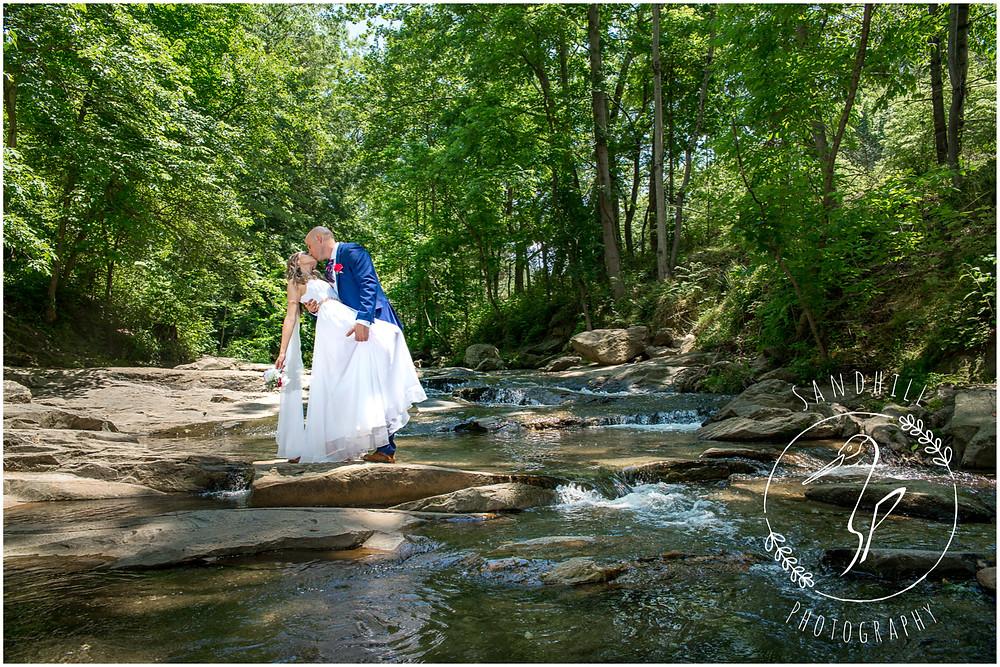 Destination Wedding Photographer, wedding portrait at Botanical Gardens at Asheville, image by Sandhill Photography, Bradenton FL