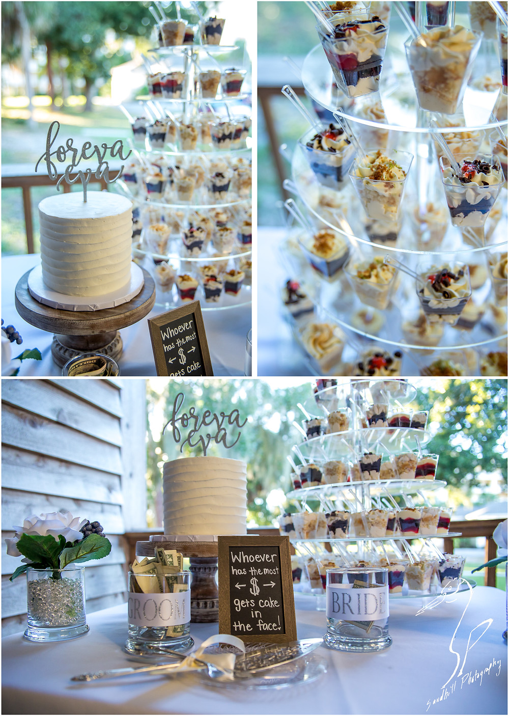 Sarasota Wedding Photography wedding cake and dessert tower from Cupcake Delights on Anna Maria Island