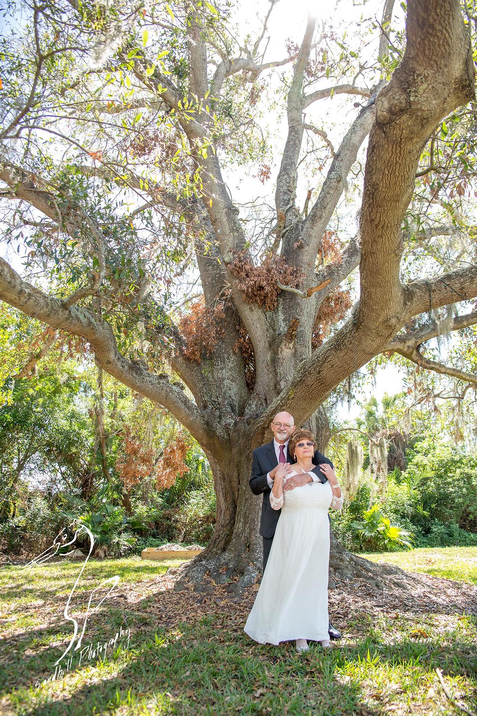 Anna Maria Oyster Bar Wedding Photography Bride Groom Oak Tree Light