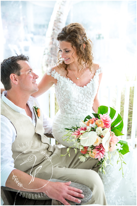 Anna Maria Island Wedding Photographer beach bridal portraits at The Sandbar Restaurant