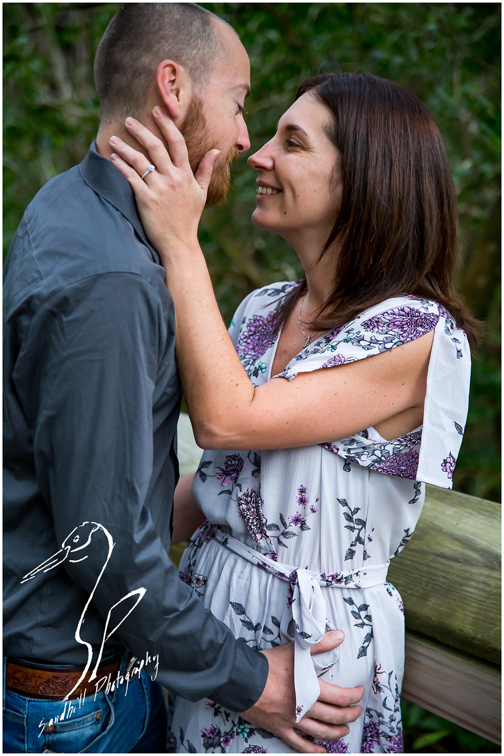 Bradenton Engagement Photographer, portrait of engaged couple tenderly embracing, by Sandhill Photography