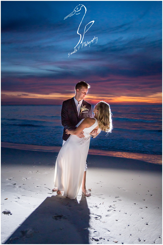 Anna Maria Island Wedding Photography, sunset wedding portrait by Sandhill Photography