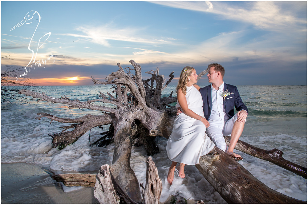 Anna Maria Island Wedding Photography, wedding portraits at the Beer Can Island, by Sandhill Photography