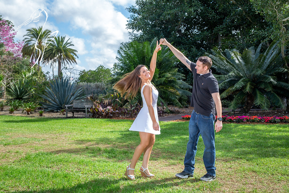 Engagement Photography Selby Gardens sunshine spin Sandhill Photography