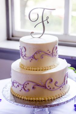 Wedding Cake Churchill's Pub purple