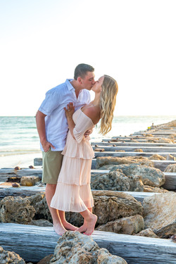 Romantic Engagement photography on Anna Maria Island by Sandhill Photography