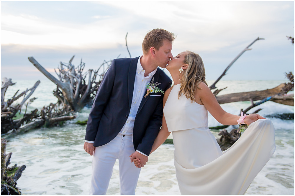 Anna Maria Island Wedding Photography, wedding portrait at Beer Can Island by Sandhill Photography