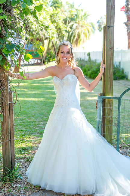 Sandhill Photography Bradenton Bride garden gate wedding vines wedding photography