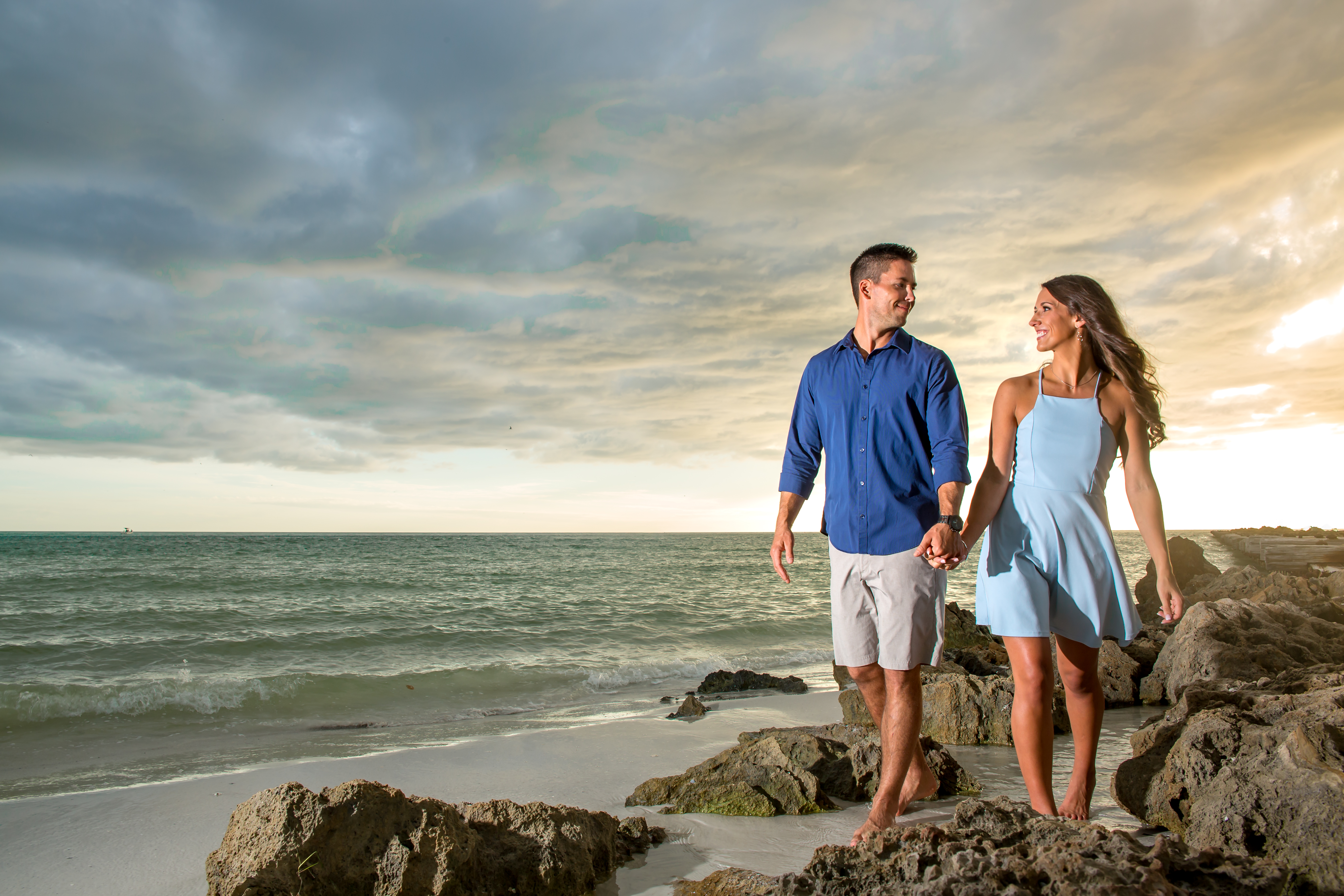 Bradenton Engagement Photographer beach portrait