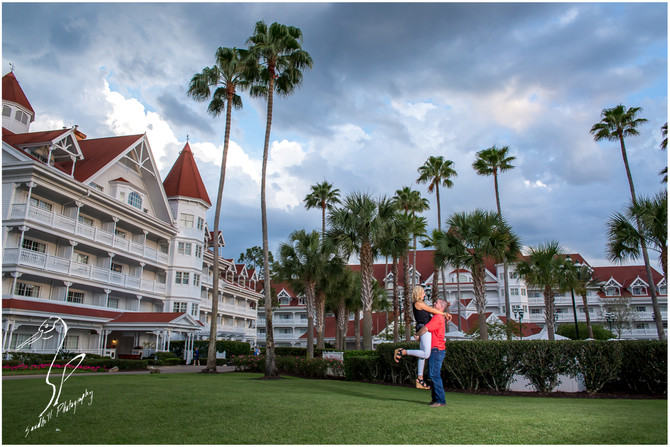 Disney's Grand Floridian Engagement Session | Heather & Bobby