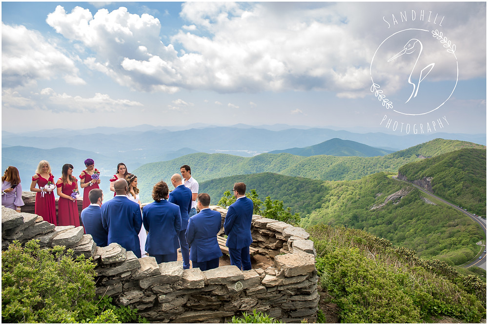 Destination Wedding Photographer, mountain top wedding ceremony at Craggy Gardens, image by Sandhill Photography, Bradenton FL