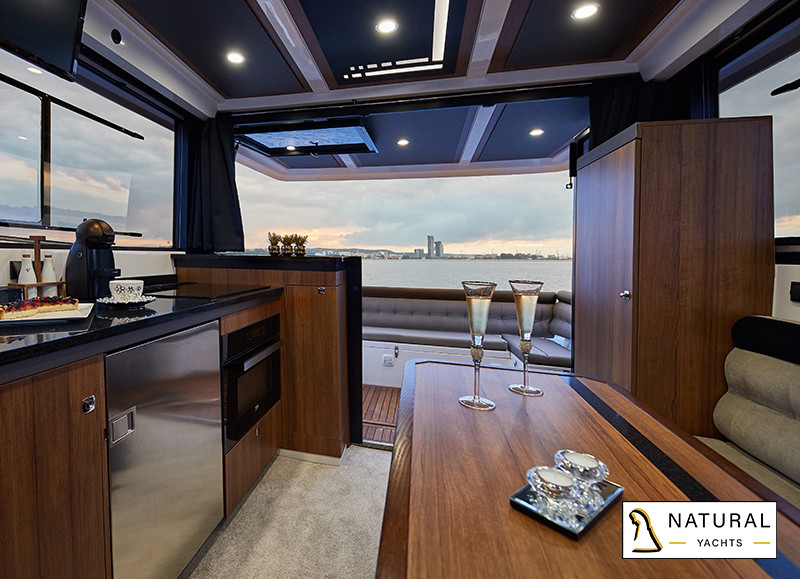 Northman 1200 Flybridge Motor Yacht modern kitchen