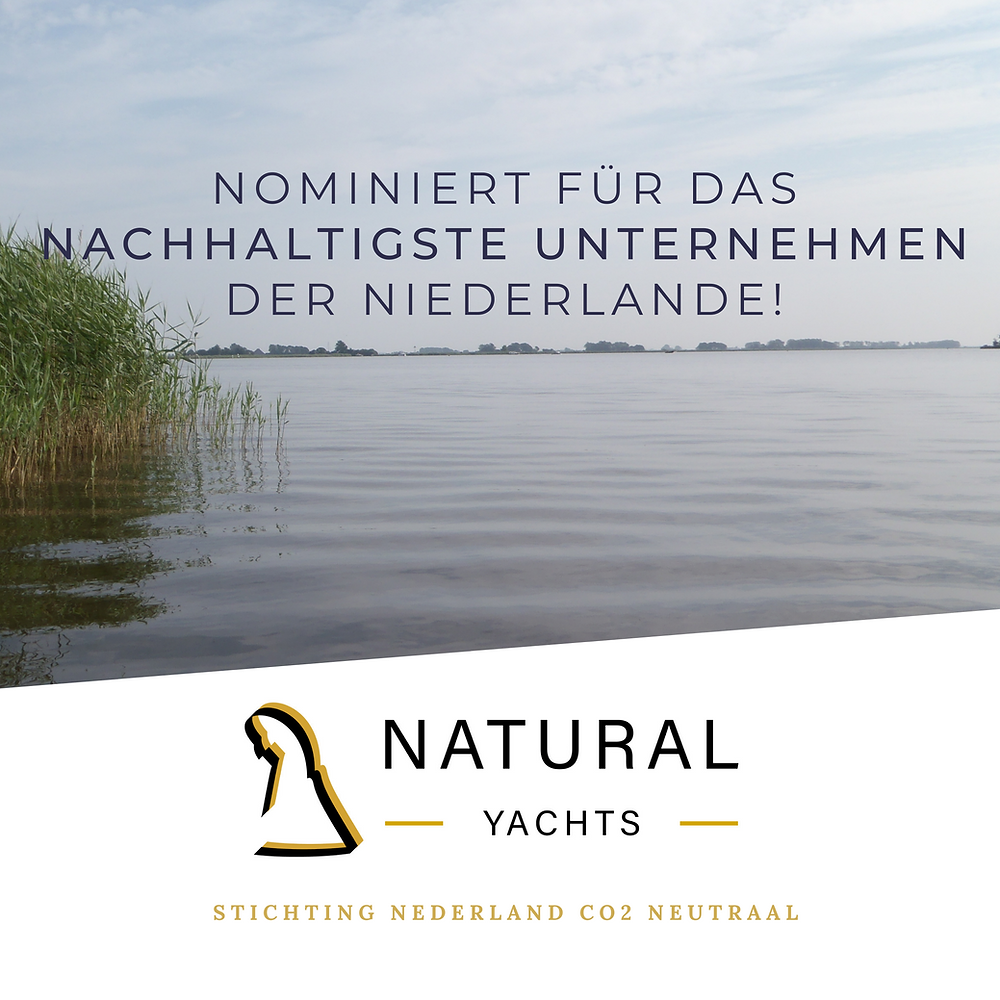Natural Yachts is nominated for most sustainable company of the Netherlands