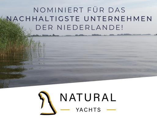Nominierung Nachhaltigkeitspreis  Für Natural Yachts