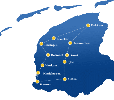 The eleven cities of Friesland