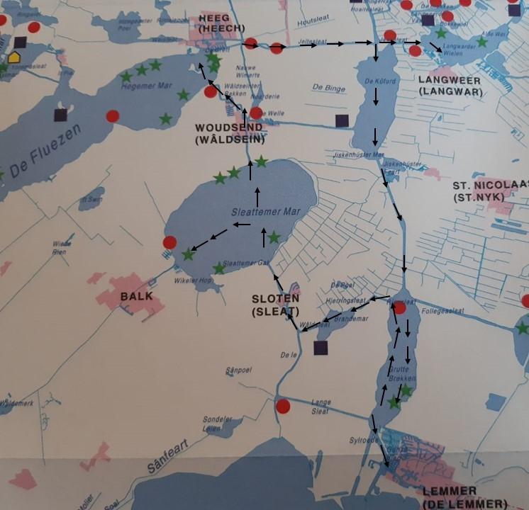 Vaarroute Friesland: Heeg, Langweer, Lemmer, Sloten, Balk, Heeg