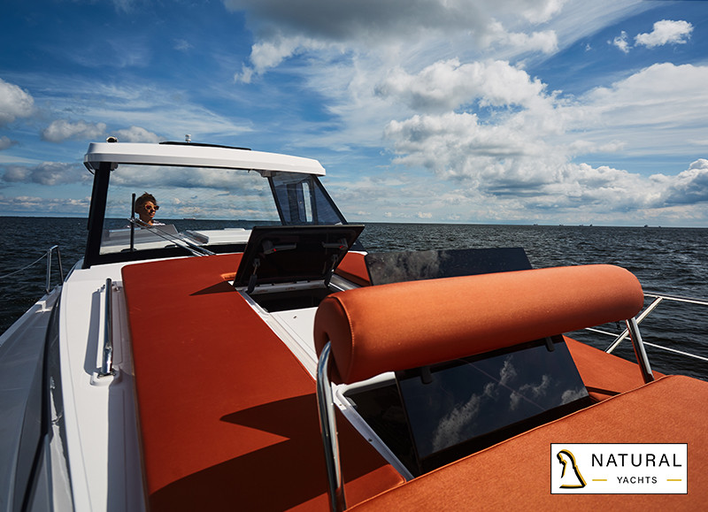 Nexus Revo 870 Electric Motor Yacht sundeck lounge