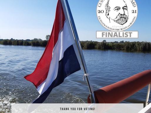 Finalist // De Nexus Revo 870 heeft de finale gehaald van de Gussies Electric Boat Awards 2021