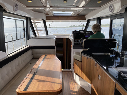 The outdoor experience on the Northman 1200; lots of daylight and a generous view to the outside.