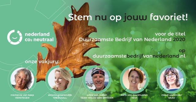 Duurzaamste bedrijf van Nederland verkiezing 2020