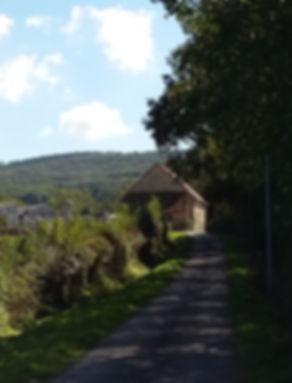 Route pour arriver à la Ferme des Lauchères