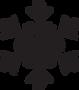 schwarz Schneeflocke