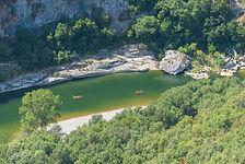 Ardèche, canoë, gorges de l'Ardèche