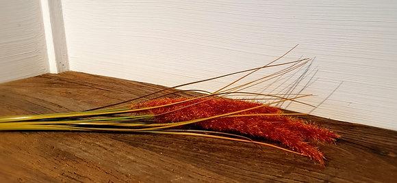 Dekozweig Gras rot