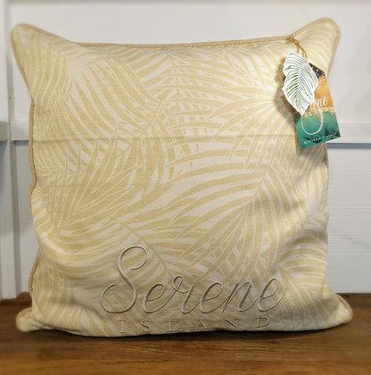 Serrene Island Palm Leaf Pillow Cover sand 50x50