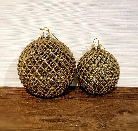 Decostar Weihnachtskugel mint-gold